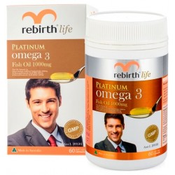 REBIRTH PLATINUM OMEGA 3 FISH OIL 1000 MG 60 viên